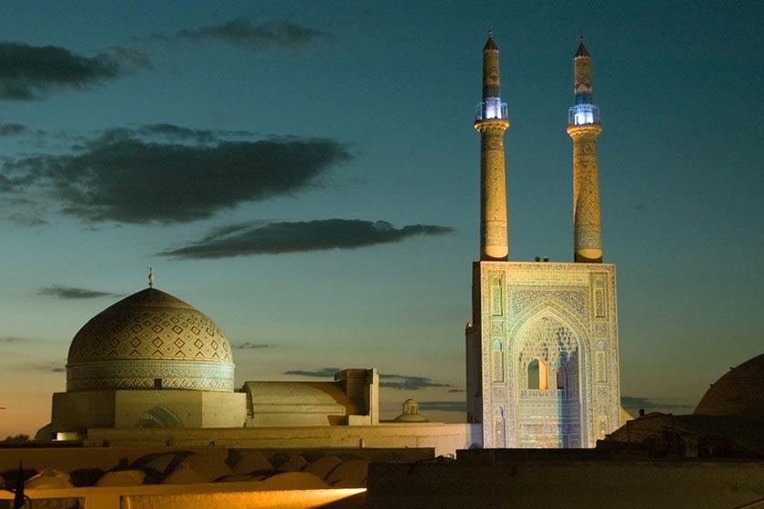 مسجد جامع یزد از جاذبه های گردشگری شهر یزد