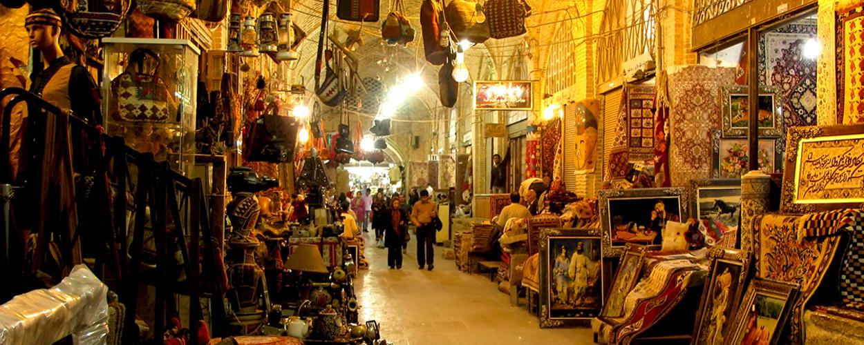 بازار وکیل از جاذبه های شهر شیراز
